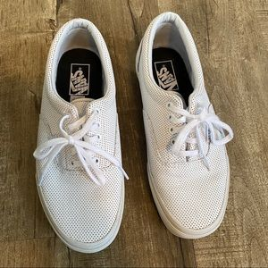 Vans Perf Leather Lace-up Era Sneakers White 9.5